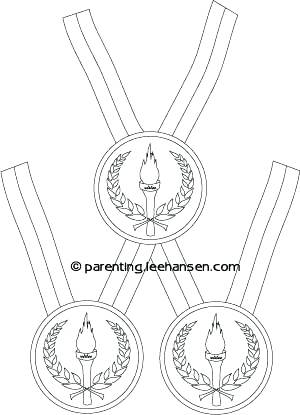 300x415 Olympic Coloring Pages Medals Picture Or Stamp Olympic Gold