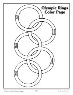 243x316 Olympic Rings Coloring Page Olympics Unit