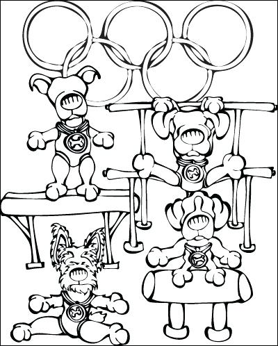 400x498 Olympic Rings Coloring Page Doggy Gymnastics Coloring Page Olympic