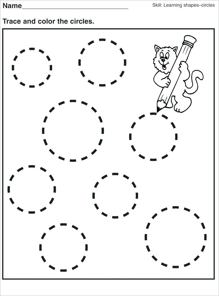 758x1024 Circles Coloring Pages Learning Shapes Circle Worksheets