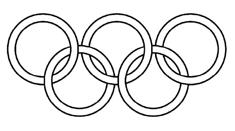 782x436 Olympic Rings Coloring Page Ring Image To Colour In Olympic Rings