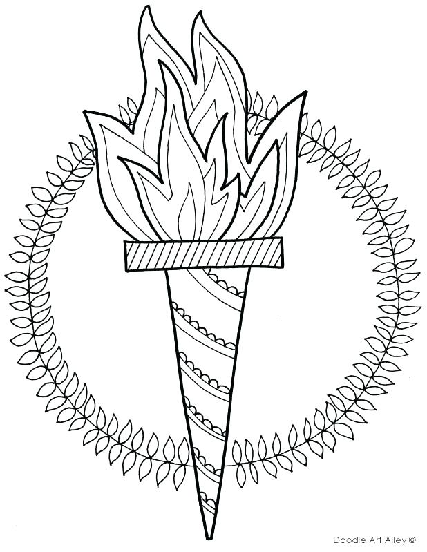 618x799 Olympic Rings Coloring Page Rings Coloring Page Drawn Torch Winter