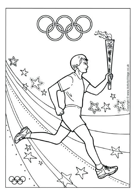 460x651 Olympic Rings Coloring Page Torch Relay Colouring Page Olympic