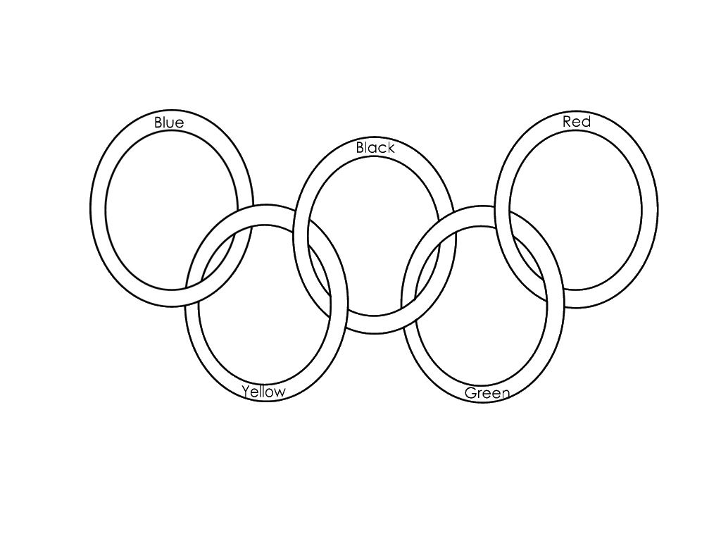 1024x768 Winter Olympics Rings Coloring Page For Kids Olympic Field Day