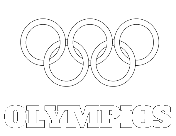 600x464 Olympic Coloring Pages Olympic Rings Coloring Sheet Printable Free