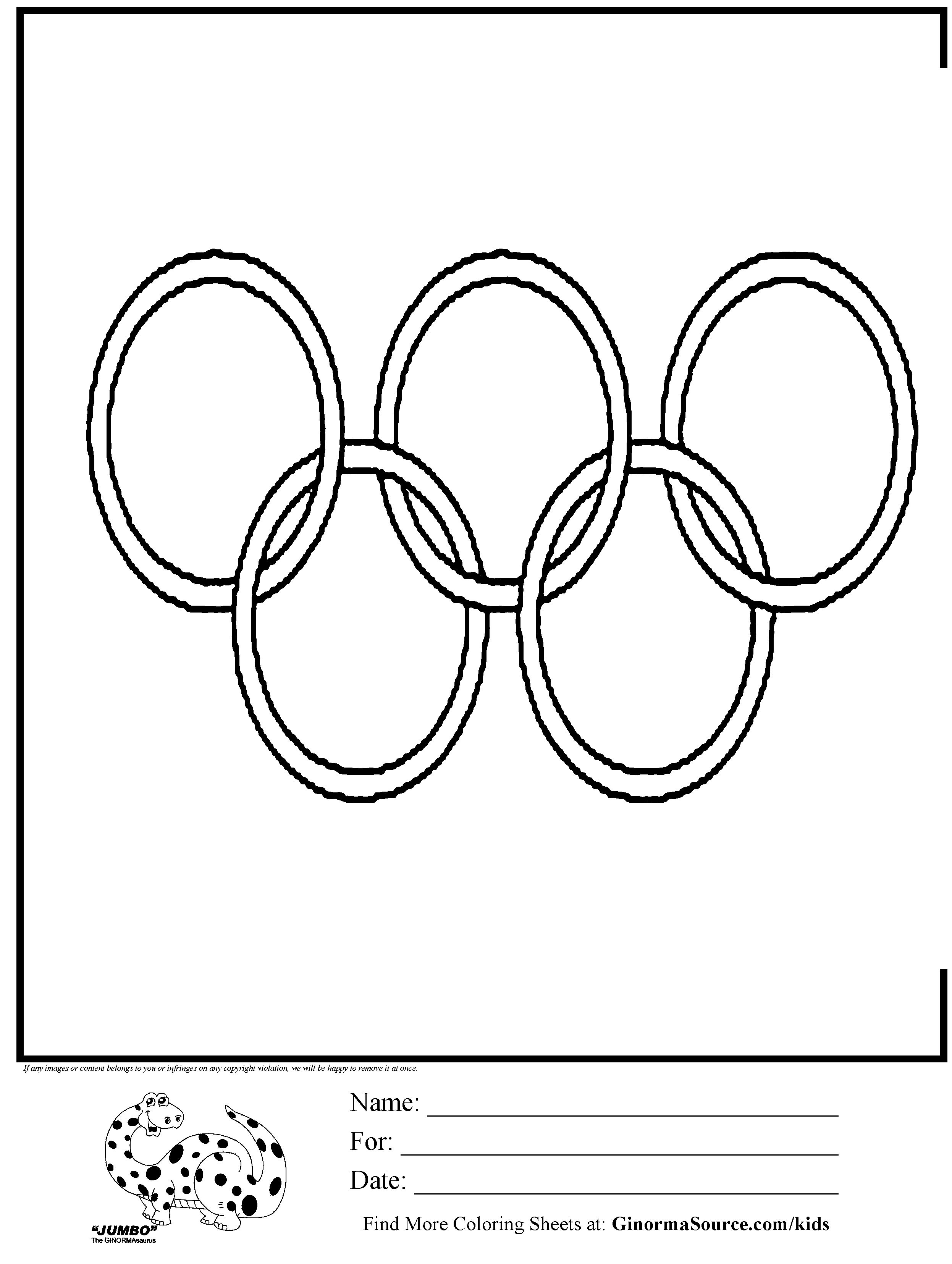 2493x3310 Olympics Ring Coloring With Ordinal Number Directions Color
