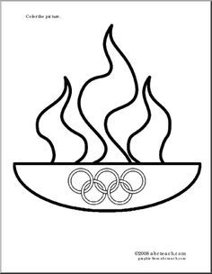 Olympic Torch Coloring Page At Getdrawings Com Free For Personal
