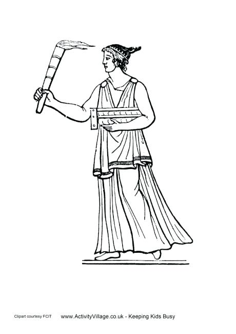 460x650 Ancient Greece Coloring Pages Ancient Torch Colouring Page Ancient