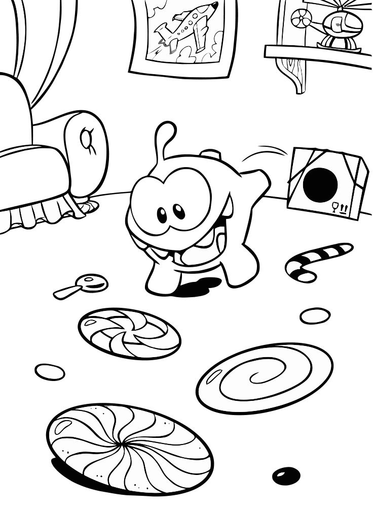 Om Nom Coloring Pages