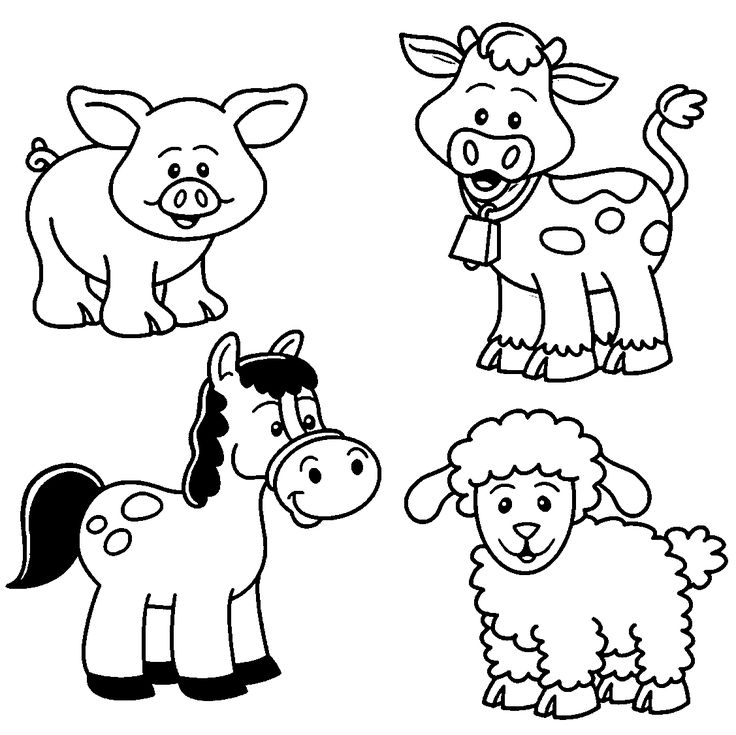 On The Farm Coloring Pages
