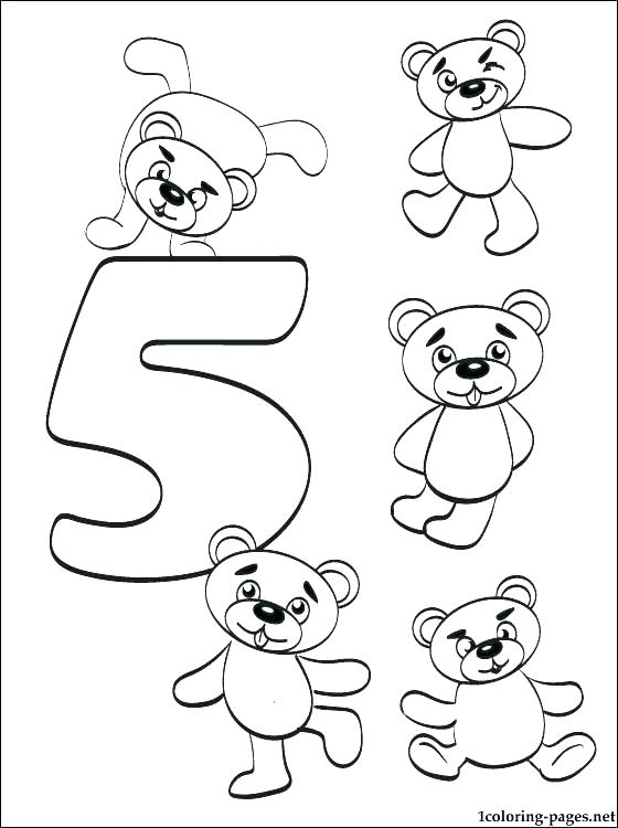 560x750 Coloring Pages Numbers Coloring Page Number Five Coloring Page
