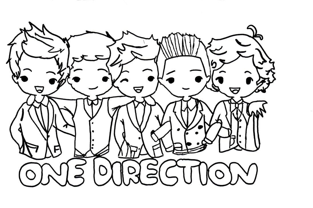 1096x728 One Direction Cartoon