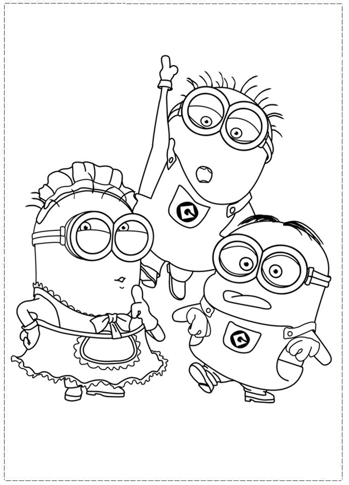 691x960 Despicable Me Coloring Pages Free Printable Coloring Sheets