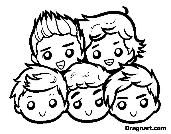 600x470 One Direction Coloring Pages Coloring Page One Direction