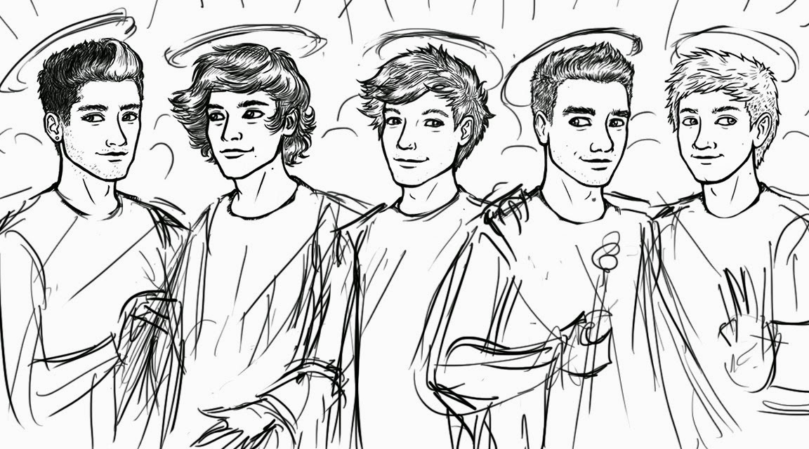 1152x640 One Direction Coloring Pages Compilation Free Coloring Pages