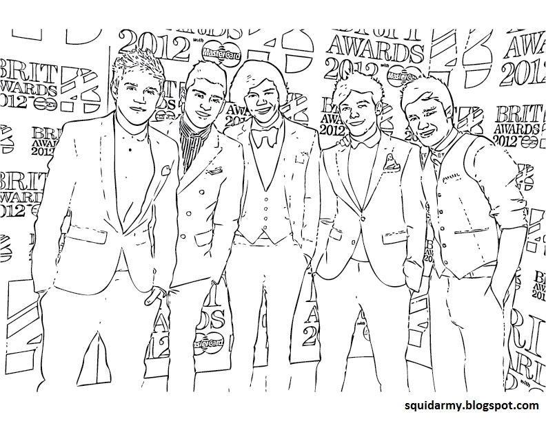 792x612 One Direction Coloring Pages Compilation Free Coloring Pages