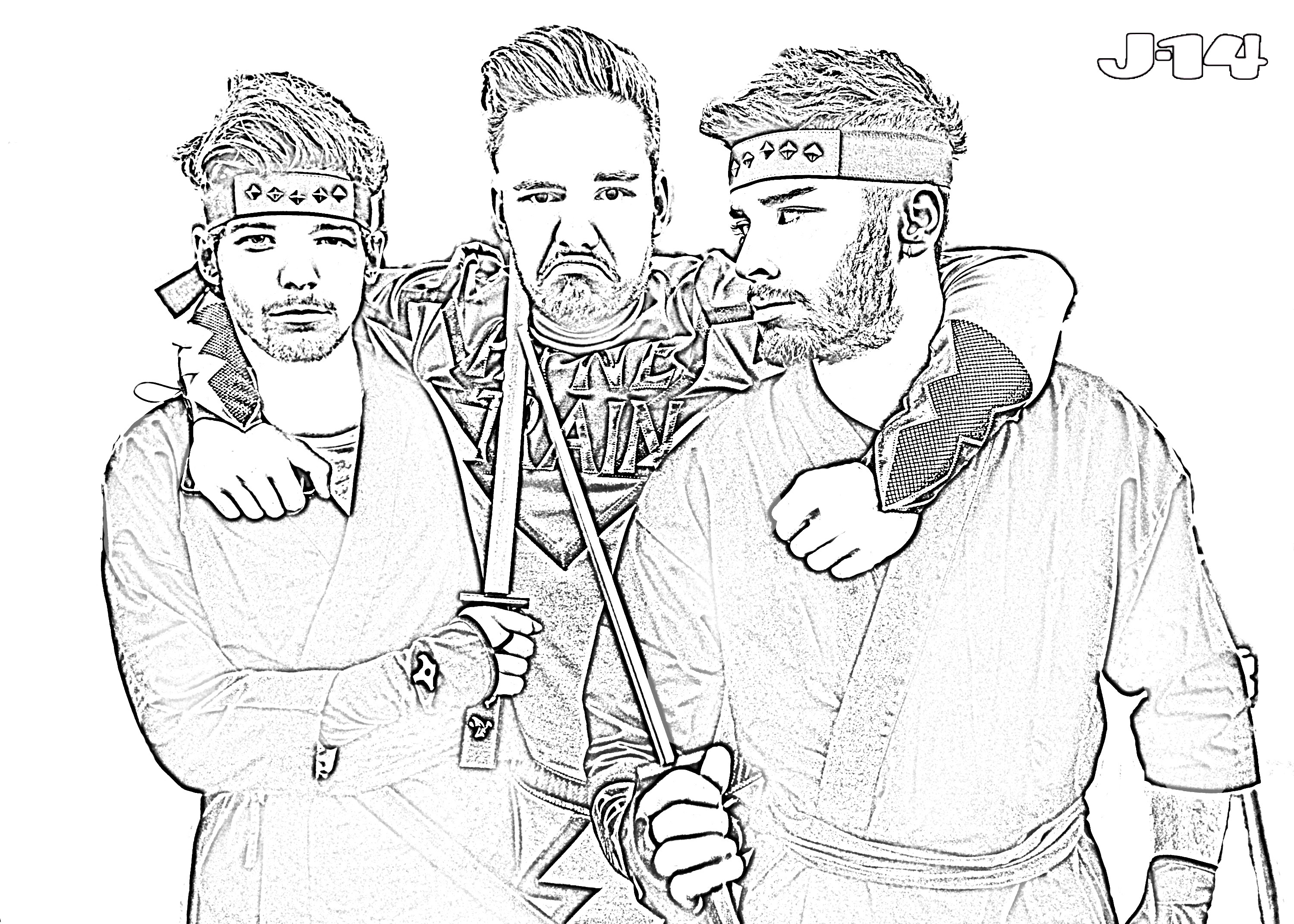 3000x2143 One Direction Coloring Page Pages