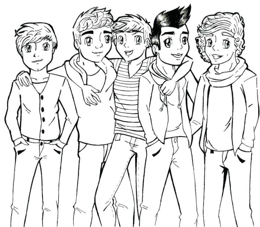 863x753 One Direction Coloring Pages Colouring Pages For One Direction E