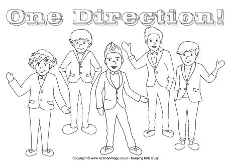 460x325 One Direction Colouring Page