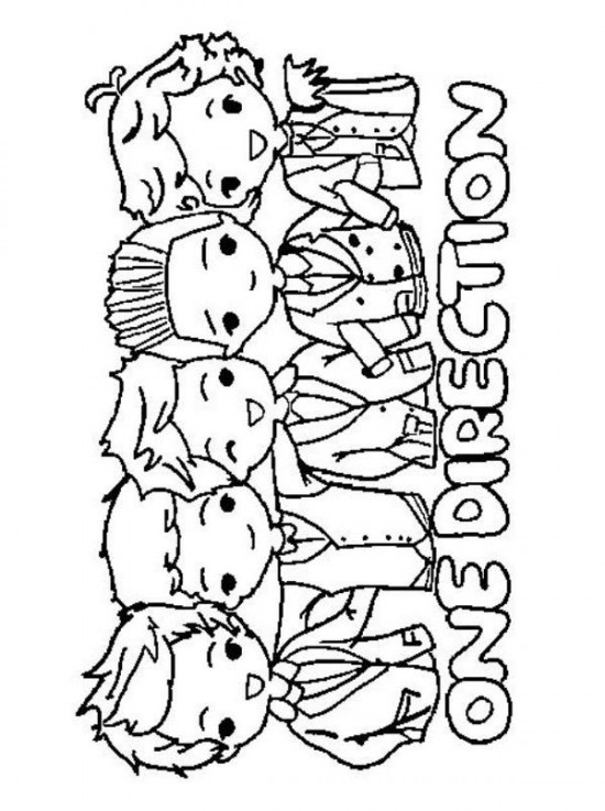 550x737 Printable One Direction Coloring Pages For Kids For Lyd