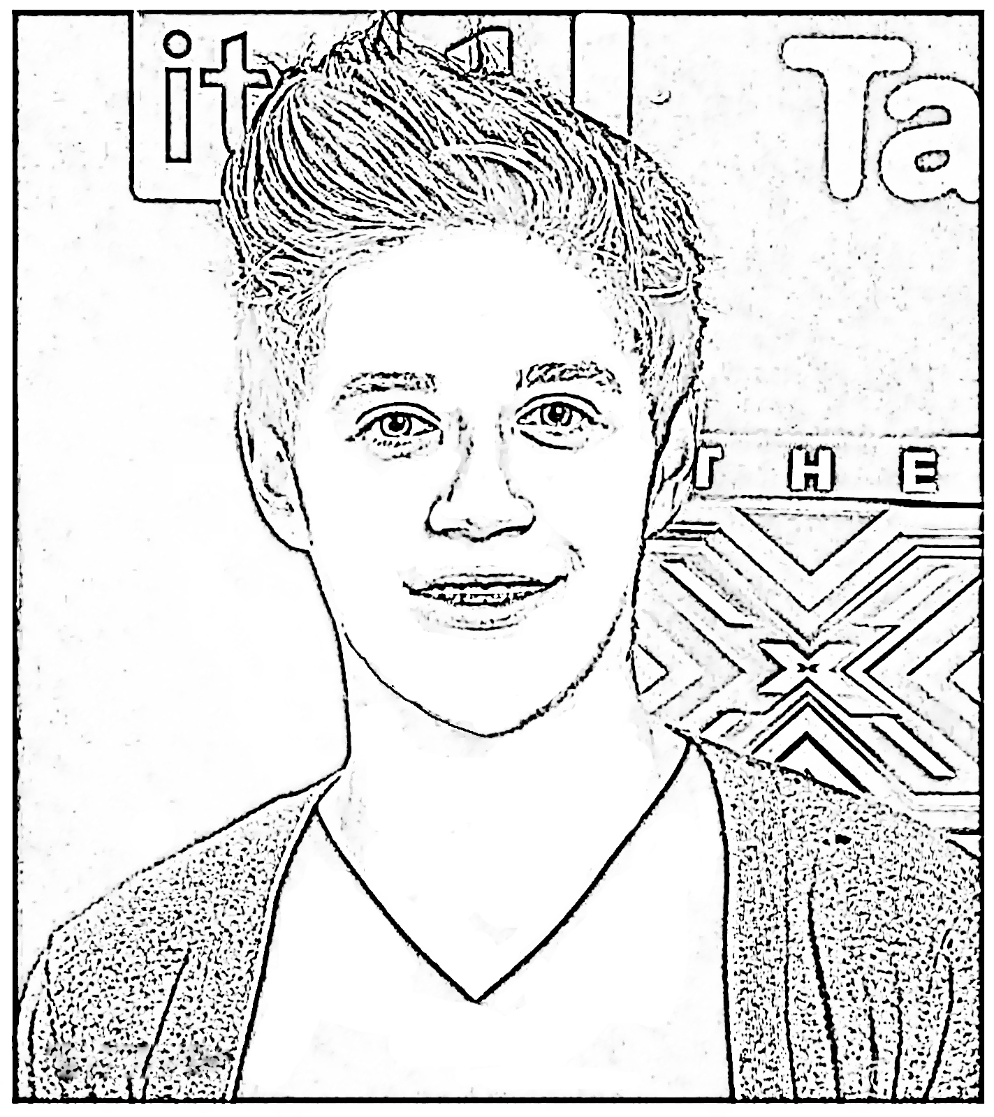1423x1600 Emerging One Direction Coloring Pages Niall Sq