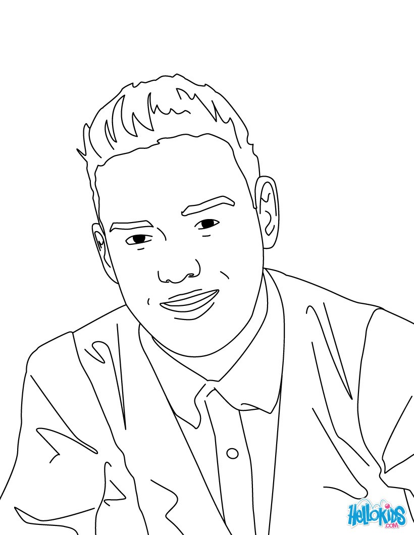 820x1060 Liam Payne Coloring Pages