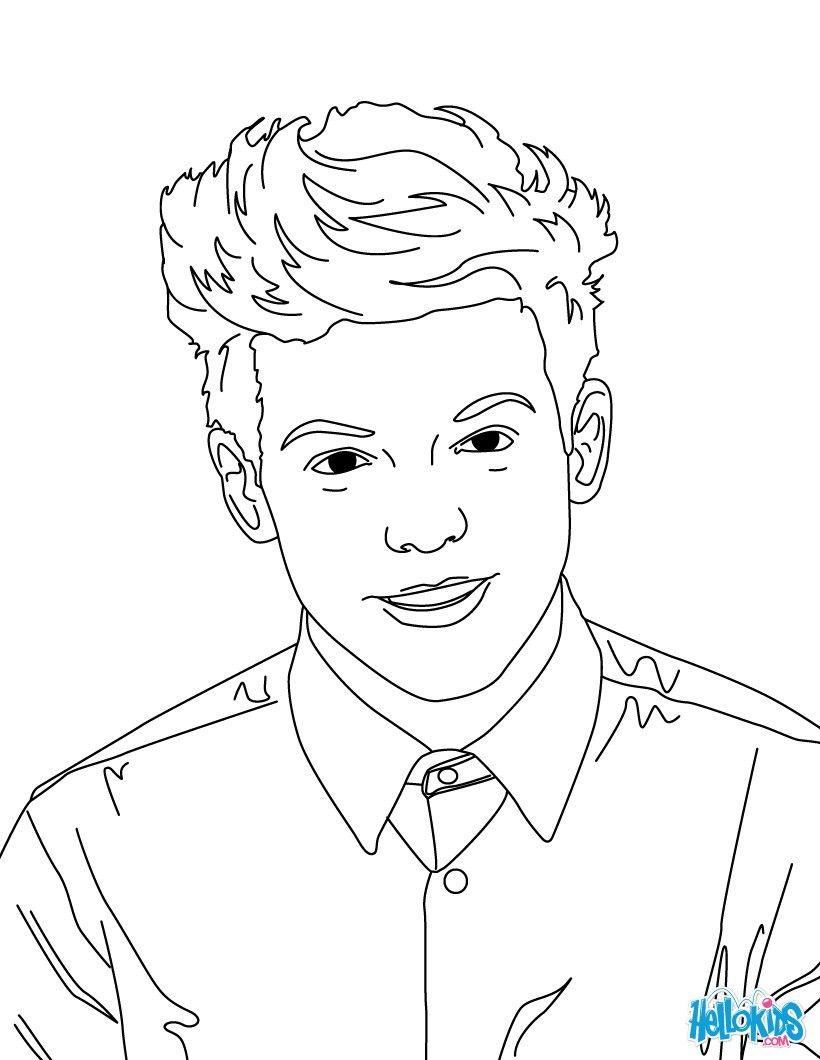 820x1060 Louis Tomlinson Coloring Page From One Direction Band More One