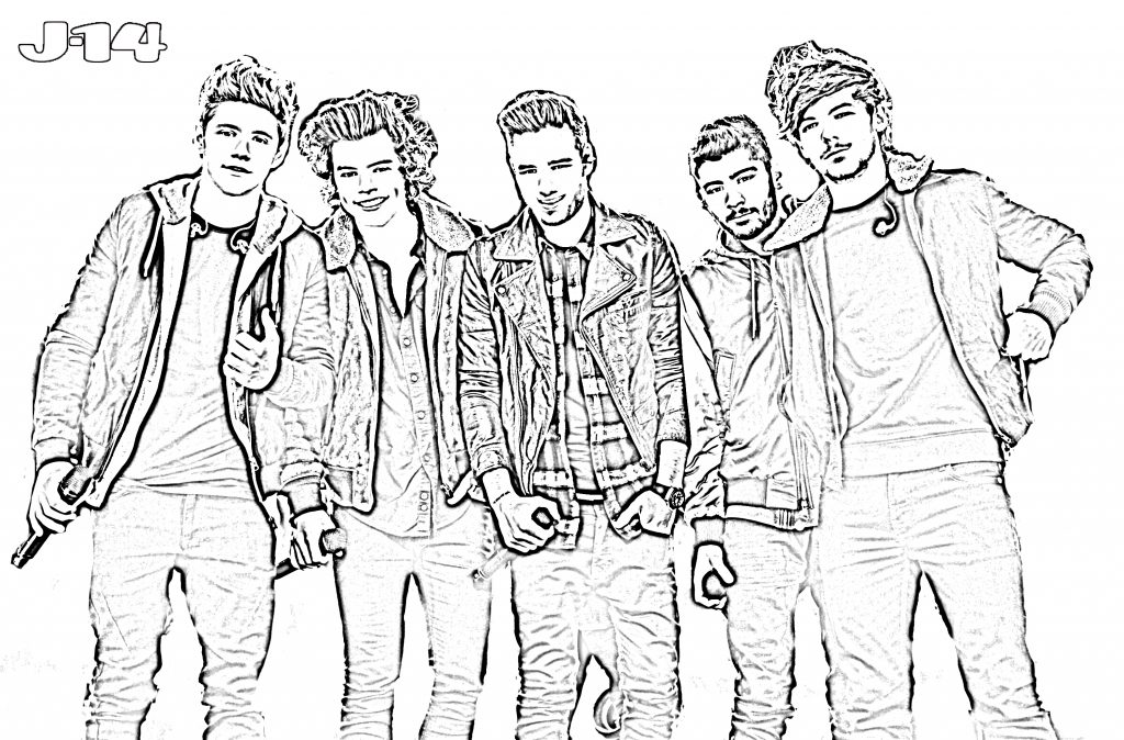 1024x674 One Direction Coloring Pages