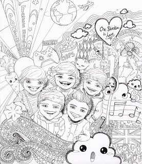 277x320 One Direction Free Printable Large Colouring Page For Fans