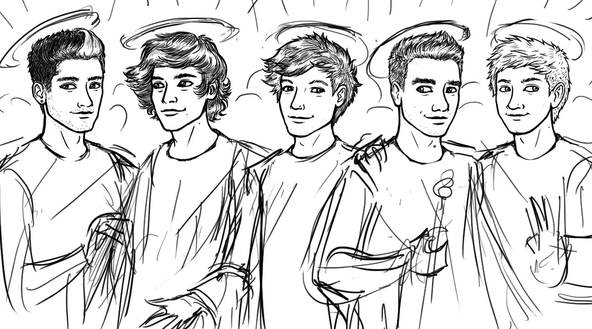 1152x640 One Direction Logo Coloring Pages One Direction Pages One