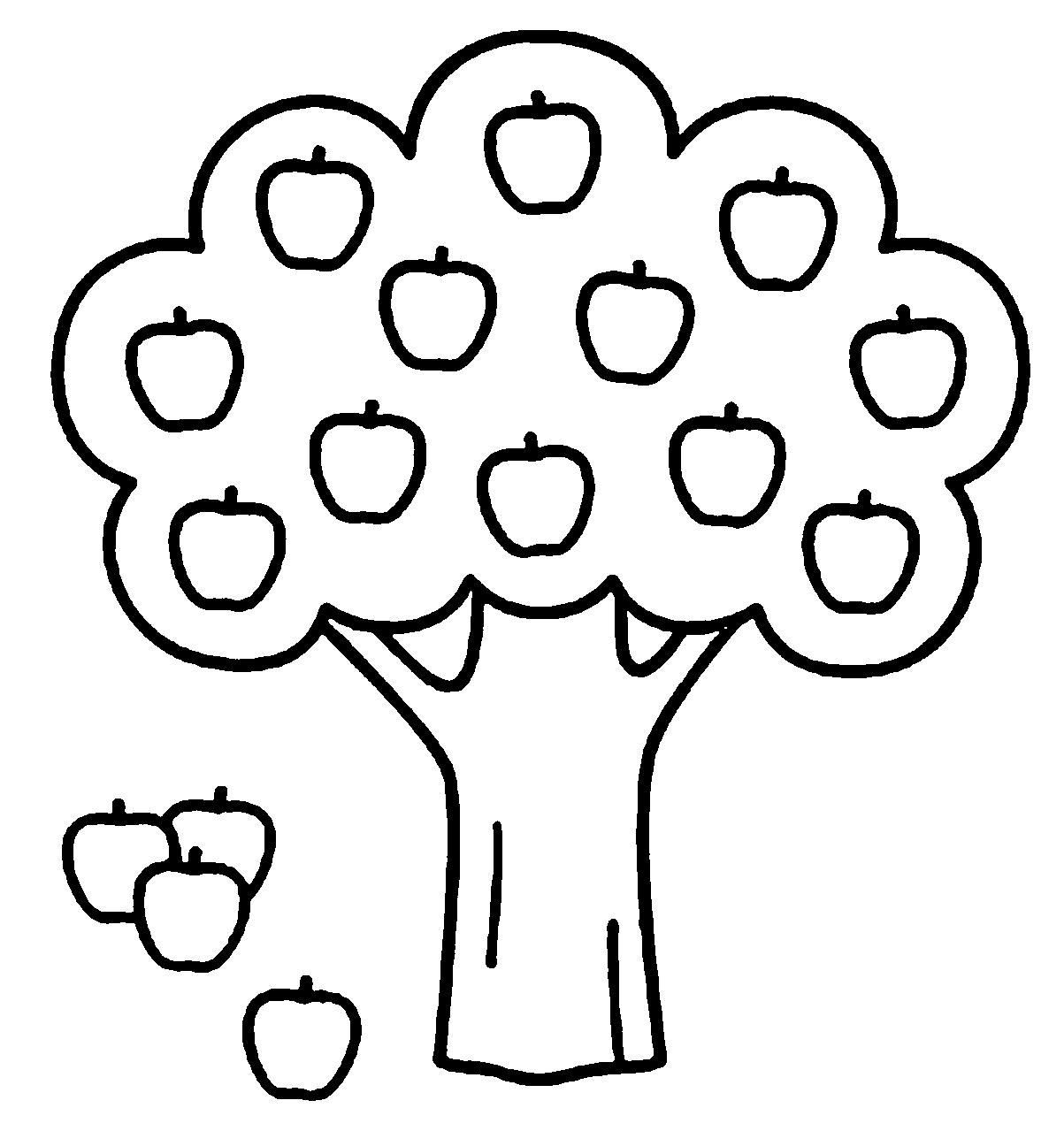1203x1279 Coloring Pages Of Apple Tree Download Coloring For Kids