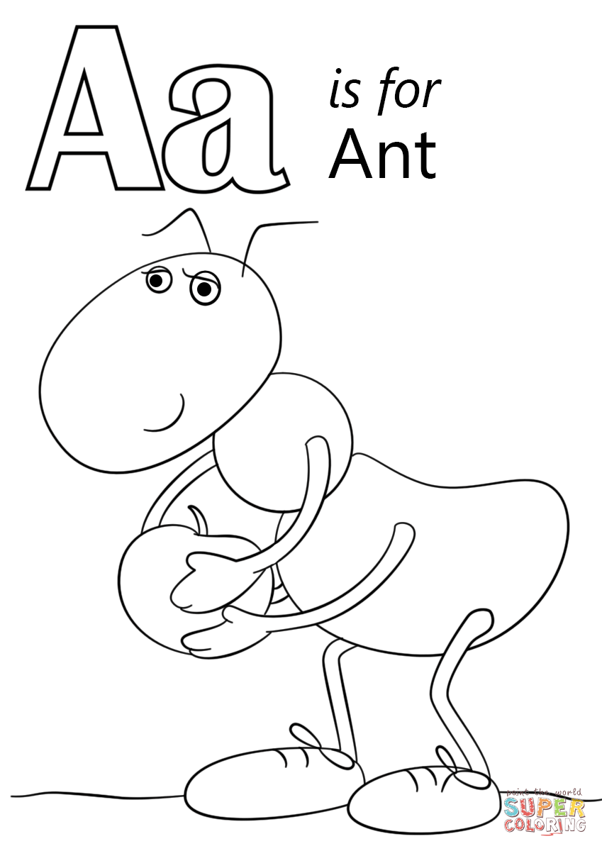849x1200 Confidential Ant Color Page Letter A Is For Co