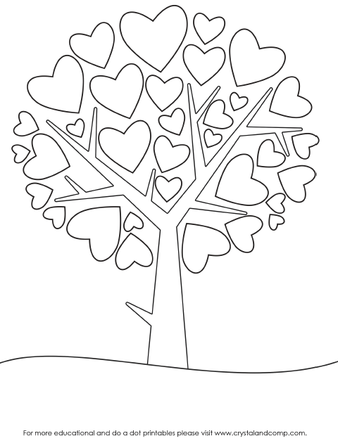 480x630 Valentine Heart Preschool Do A Dot Printables Crayons