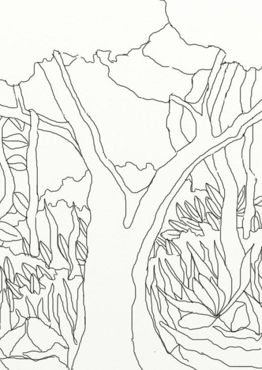520x735 Wild Treasures Forest Coloring Pages And Activities