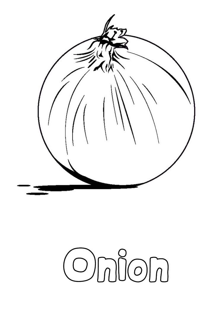 756x1060 Onion Vegetable Coloring Pages Theme Food Group
