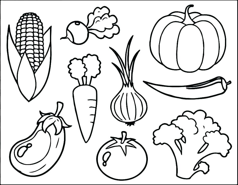 948x738 Coloring Pages Vegetables Vegetable Coloring Page Vegetable