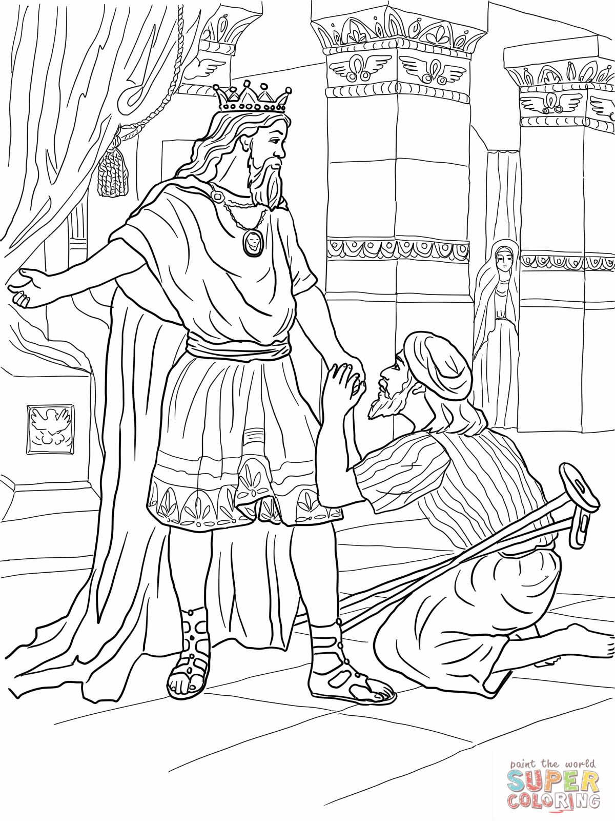 1200x1600 Mephibosheth Coloring Pages David Helps Mephibosheth Coloring