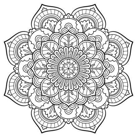 440x440 Mandala Vintage Coloring Page