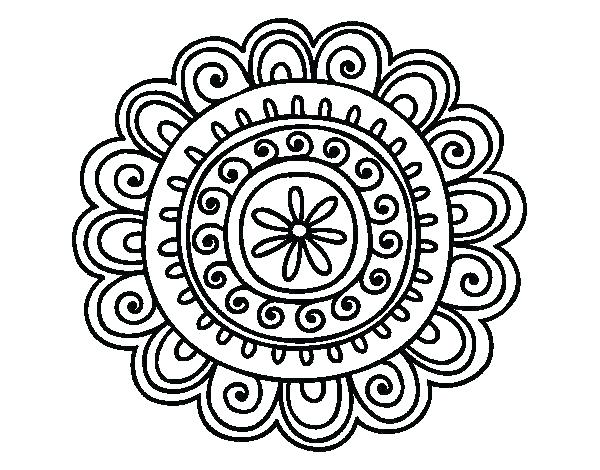 600x470 Online Coloring Pages For Adults Mandala Coloring Pages Online