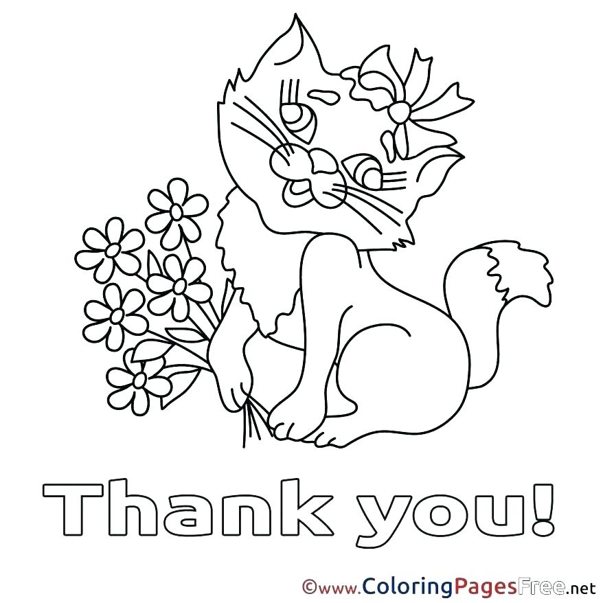 878x878 Online Coloring Pages For Kids Packed With Thank You Coloring