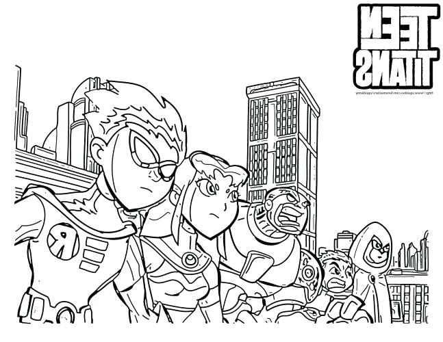 647x500 Teen Titans Color Pages Medium Size Of Teen Titans Coloring Pages