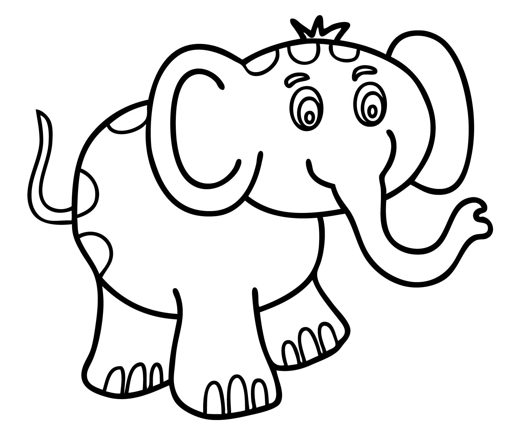 1701x1419 Toddlers Coloring Pages Cartoon Elephant Animals For Kids Unique