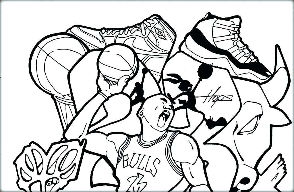 1024x671 Coloring Pages Of Basketball Basketball Coloring Page