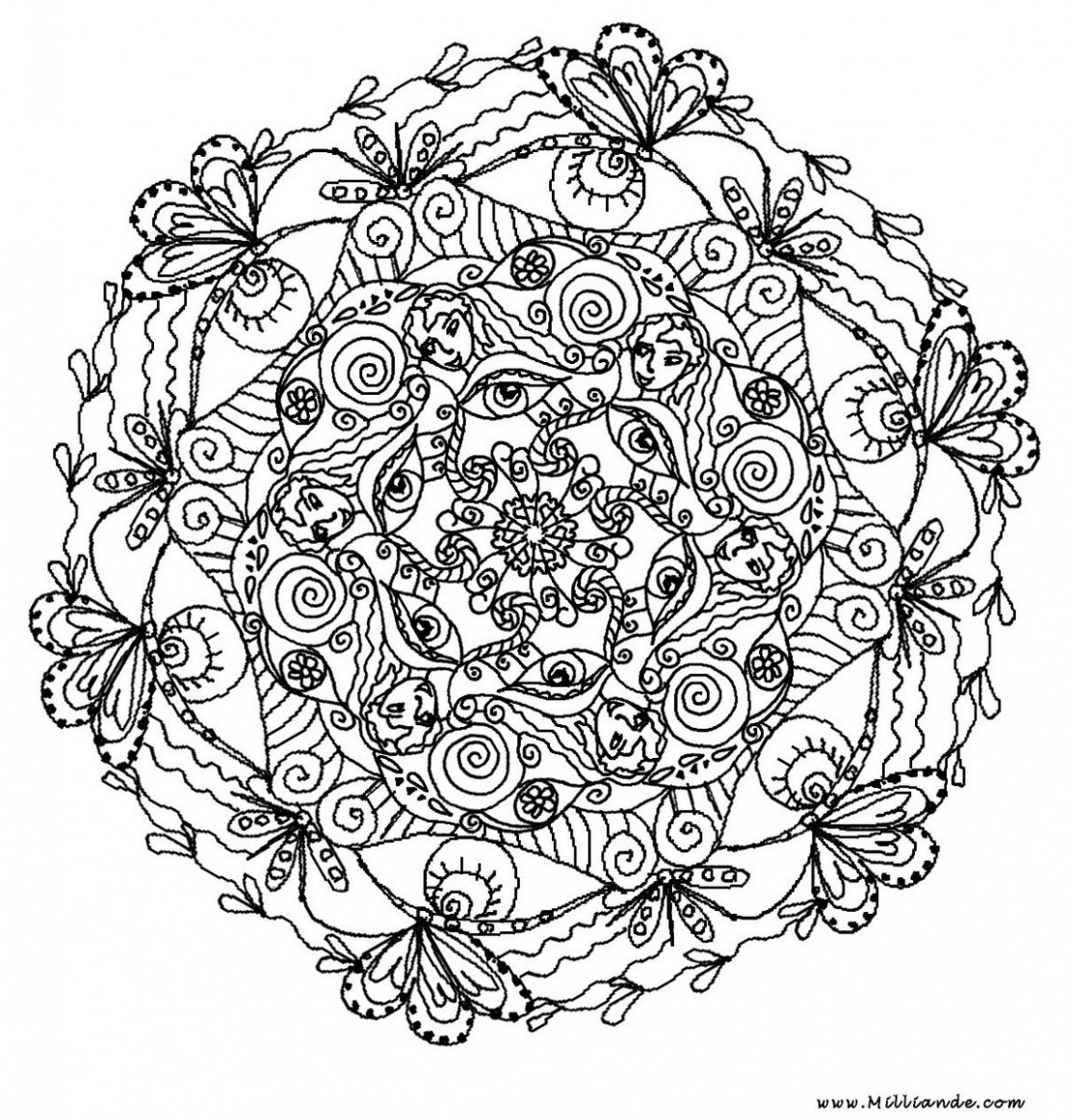 1110x1163 Printable Coloring Pages For Adults Only