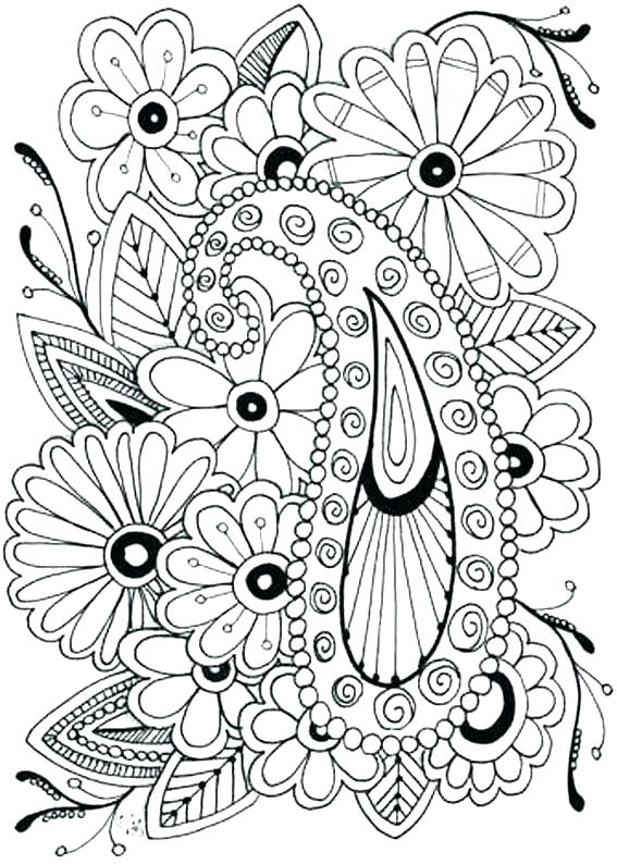 567x794 Flower Coloring Pages