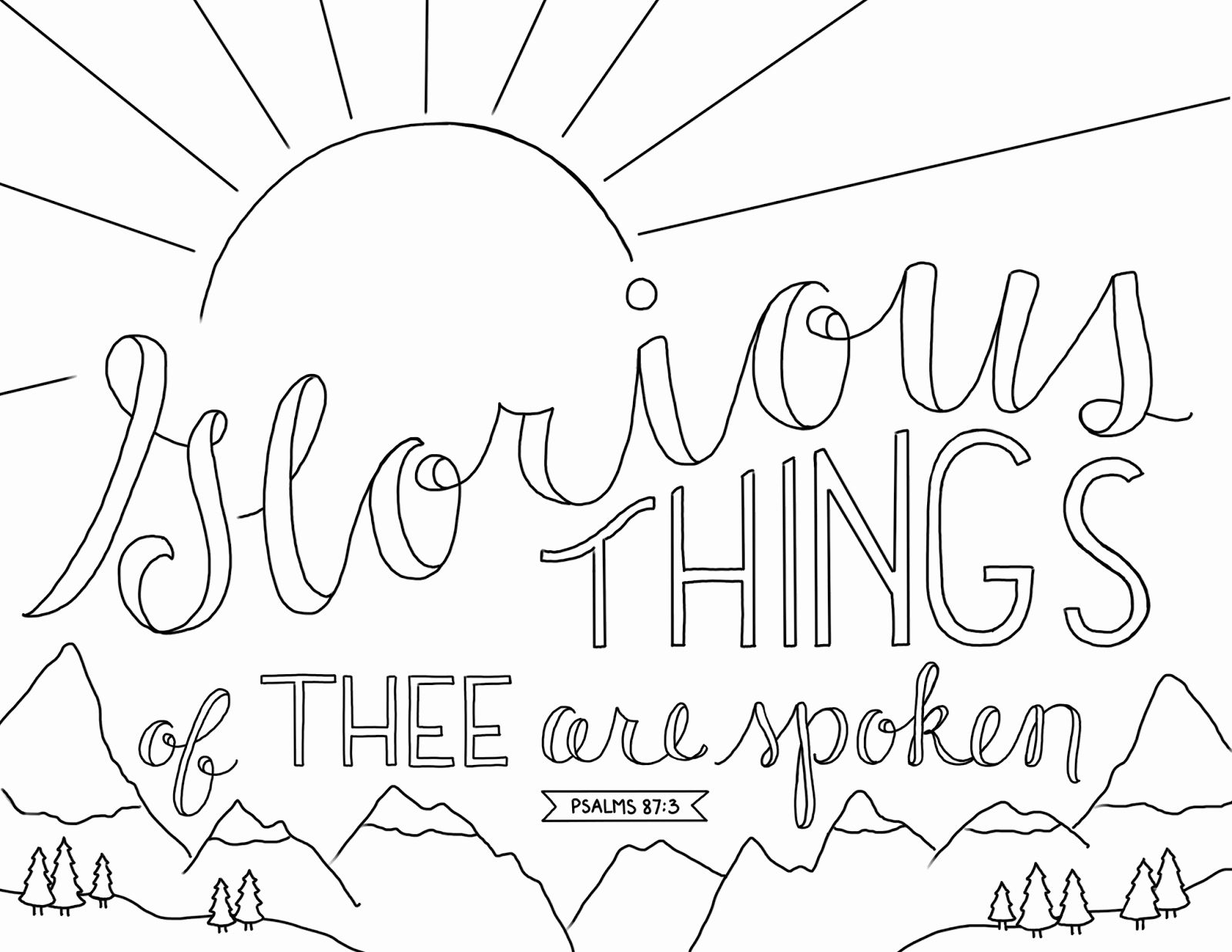 Open Bible Coloring Page