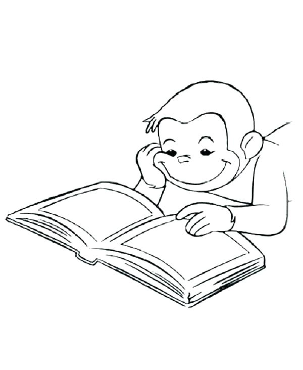 600x732 Open Book Coloring Page Open Book Coloring Page Library A Blank