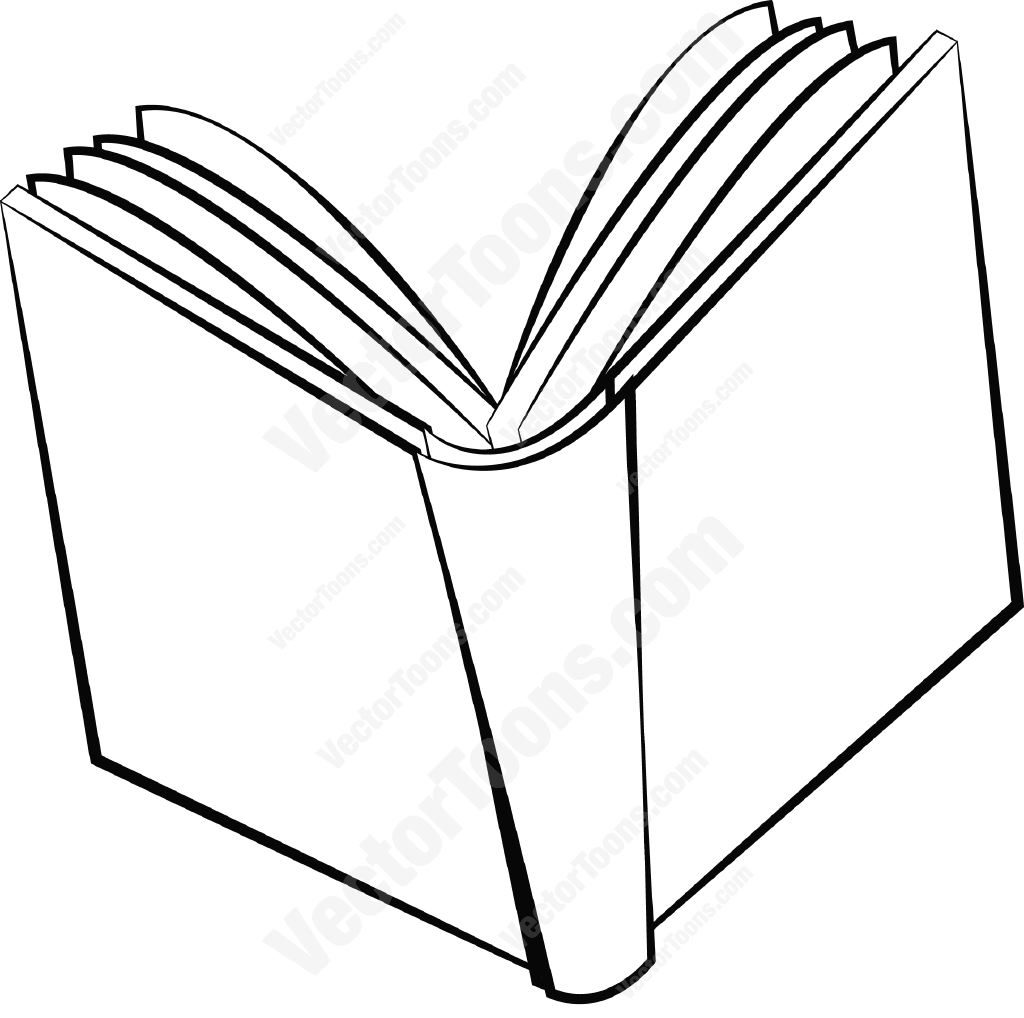 1024x1018 Open Book Coloring Page