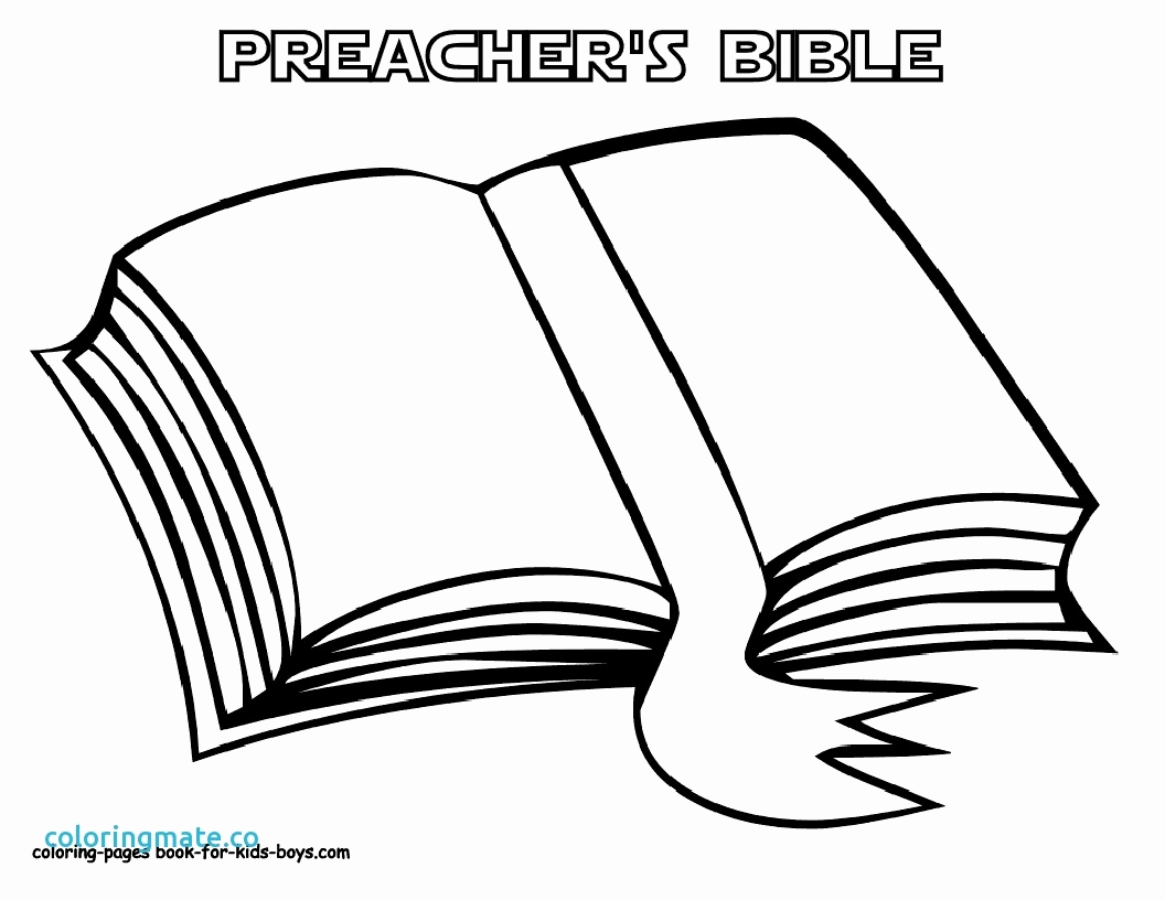 1056x816 Open Book Coloring Page
