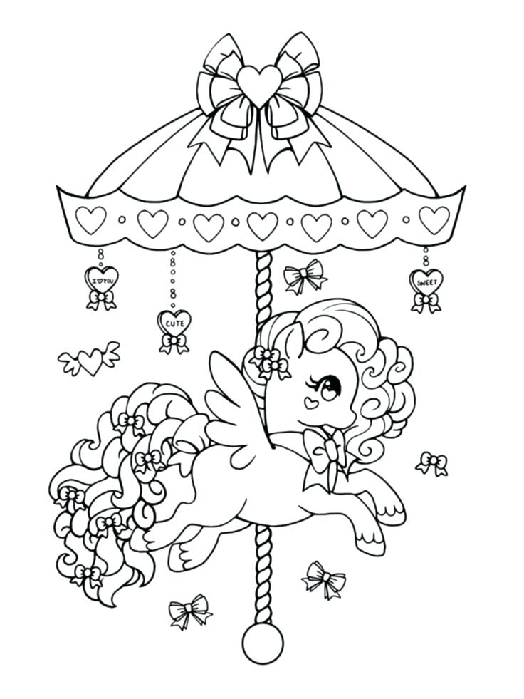 736x981 Open Book Coloring Page Valentine Gift Carousel Pony Open